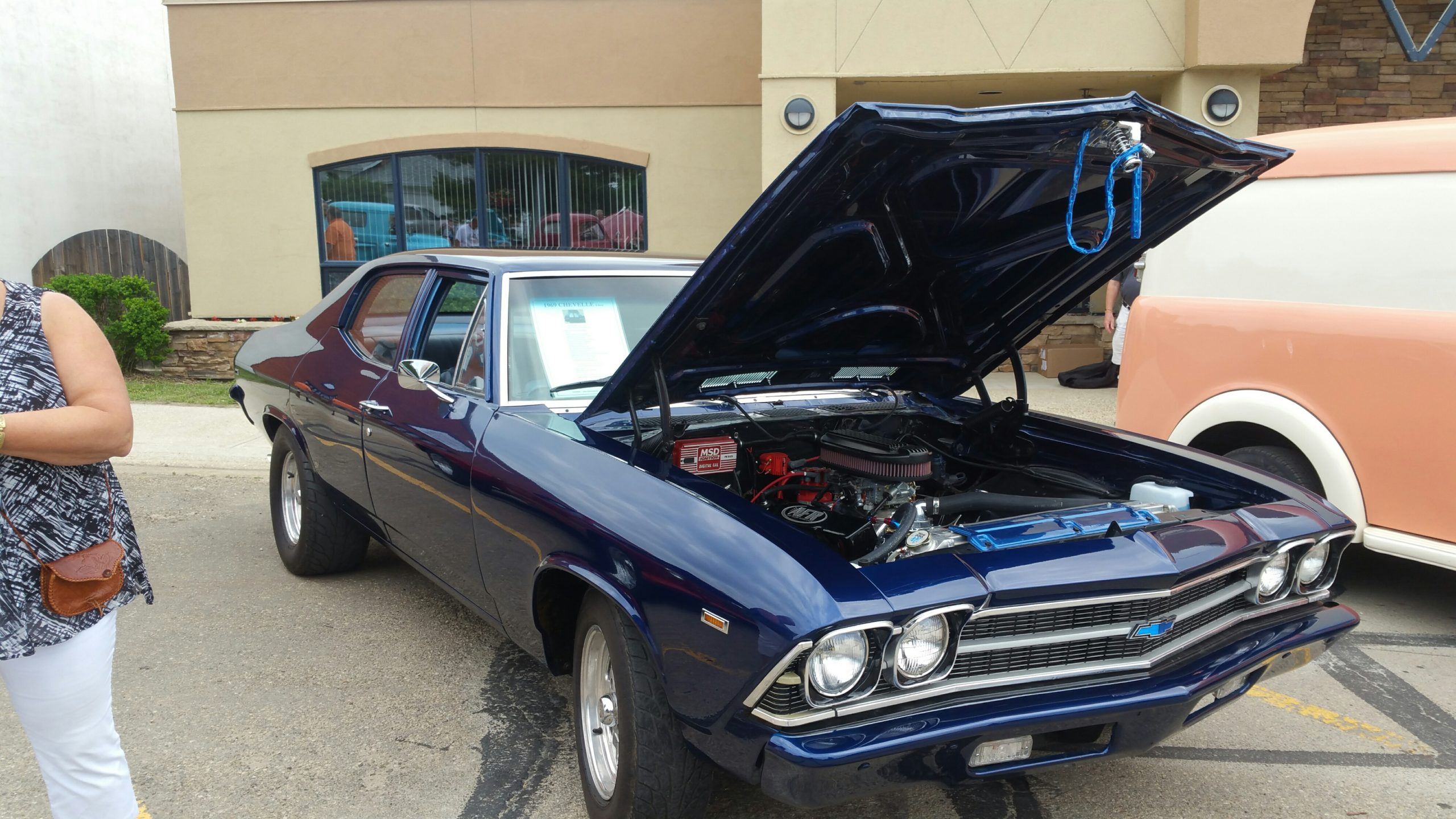 Photo of a 1969 Chevelle at a car sale, after Alexander Konowalchuk completely restored the vehicle.